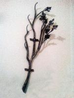 Кованая вешалка с дубовыми листьями