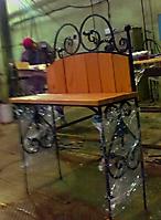 Кованая скамья на могилу