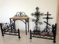 Ритуальная ковка, оградки, кресты, скамейки, столики