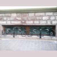 Кованая решетка в стиле модерн с растительным узором