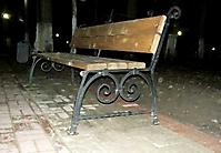 Кованая парковая скамейка