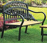Цельнометаллическая кованая скамейка