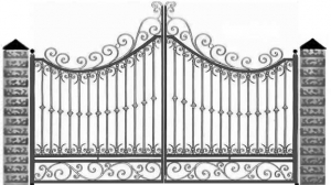 Кованые ворота 113