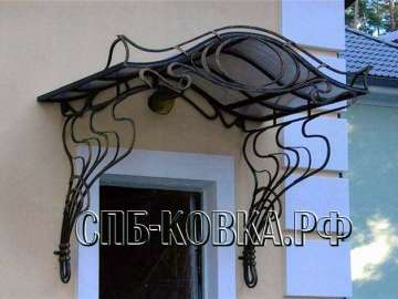 Кованый козырек-045