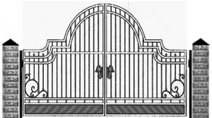 Кованые ворота 070
