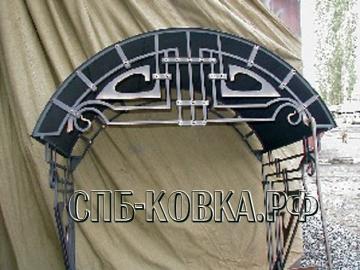 Кованый козырек-028