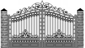 Кованые ворота 119
