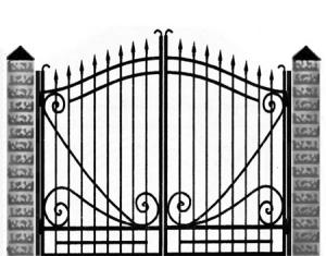 Кованые ворота 038