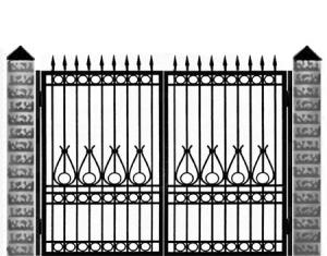 Кованые ворота 014