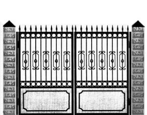 Кованые ворота 003