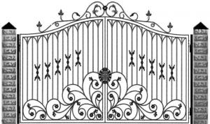 Кованые ворота 097