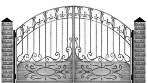 Кованые ворота 062