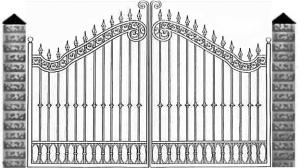 Кованые ворота 052