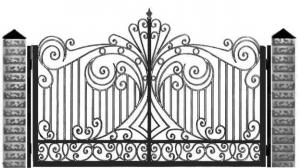 Кованые ворота 103