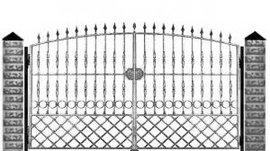 Кованые ворота 076