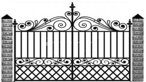 Кованые ворота 071