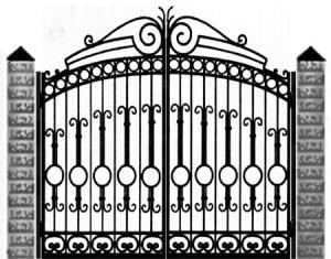 Кованые ворота 041