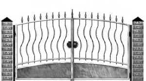 Кованые ворота 059