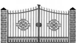 Кованые ворота 069