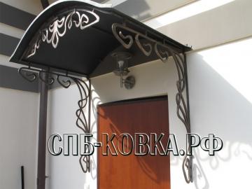 Кованый козырек-051
