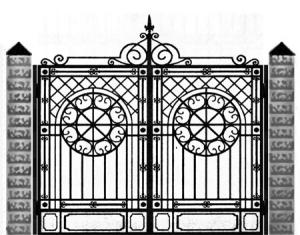 Кованые ворота 046