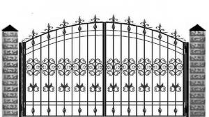 Кованые ворота 109