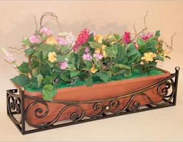 Кованая цветочница 10