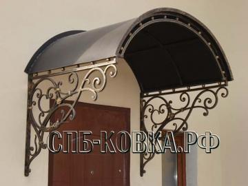 Кованый козырек-022