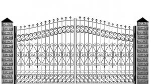 Кованые ворота 106