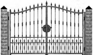Кованые ворота 049