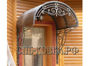 Кованый козырек-029