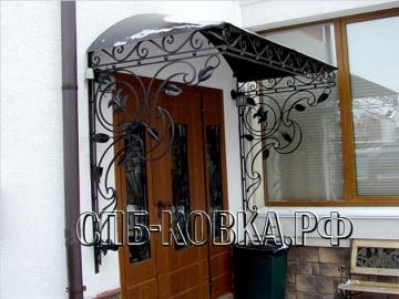 Кованый козырек-075