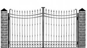 Кованые ворота 055