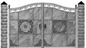 Кованые ворота 085