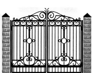 Кованые ворота 045