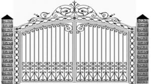 Кованые ворота 093