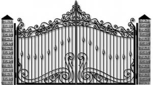 Кованые ворота 096