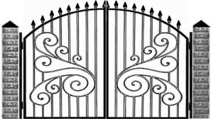 Кованые ворота 051