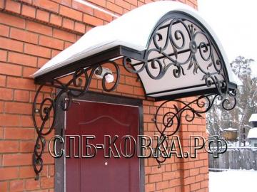 Кованый козырек-013
