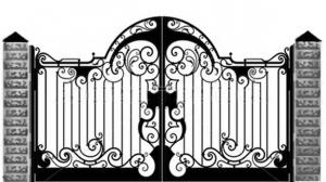 Кованые ворота 100