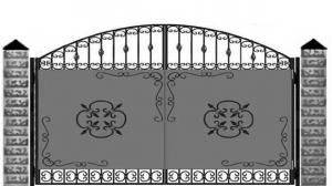 Кованые ворота 088