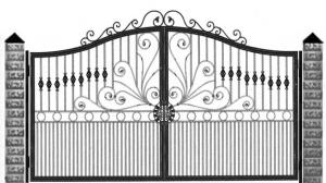 Кованые ворота 075