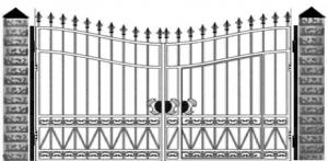 Кованые ворота 050