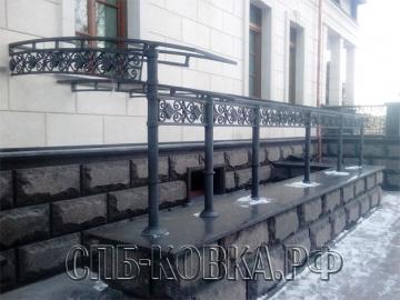 Кованый козырек-108