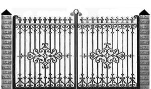 Кованые ворота 101