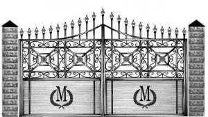 Кованые ворота 105