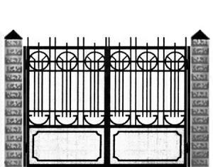 Кованые ворота 023