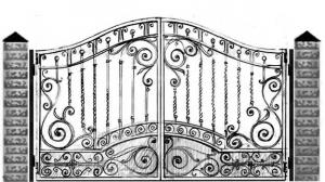 Кованые ворота 104