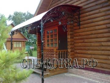 Кованый козырек-098
