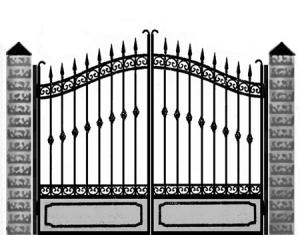 Кованые ворота 039